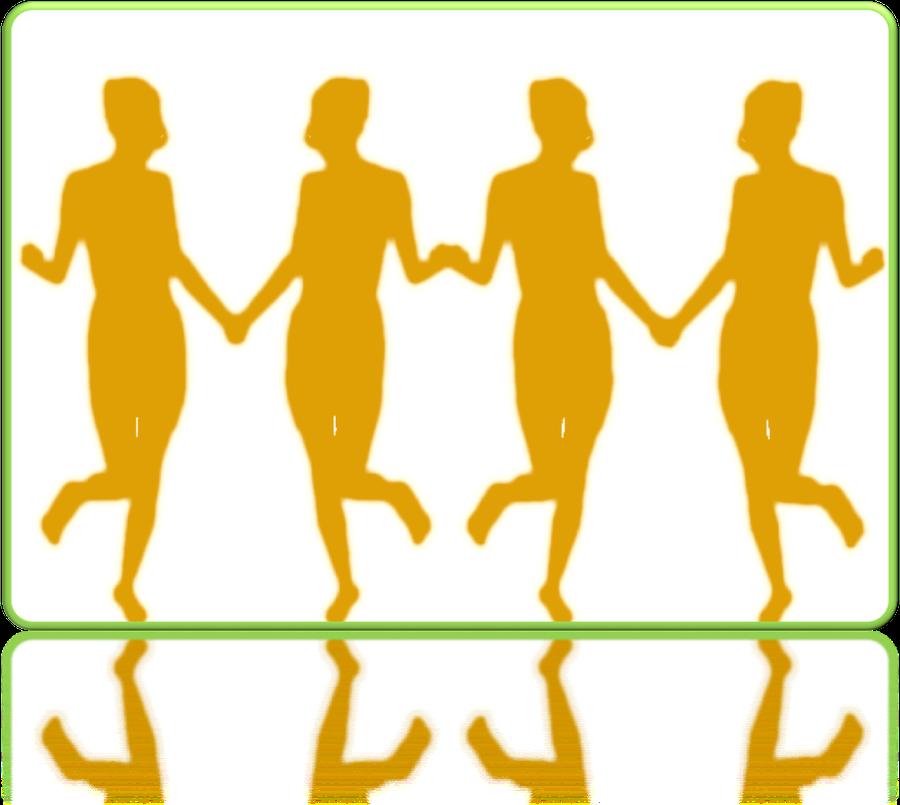line-of-women-in-orange frame